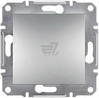 Выключатель одноклавишный одноклавишный  Schneider Electric ASFORA самозажимные контакты без подсветки 10 А 220В  IP20 алюминий EPH0100161