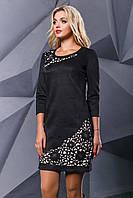 Платье женское замшевое с перфорацией в 4х цветах SV2414-13-15-01