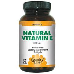 Витамины NATURAL VITAMIN Е (60 кап) COUNTRY LIFE