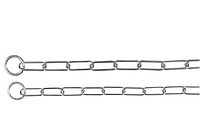 Удавка длинное звено 57см/3мм двухкольцовая (металл) для собак