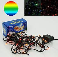 Светодиодная гирлянда цветная 100 лампочек