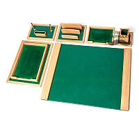 Элитный настольный набор для руководителя Зеленая Долина на 6 предметов