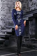 Платье женское замшевое по фигуре в 2х цветах SV2410-11, фото 1