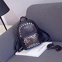 Рюкзак черный из еко-кожи