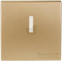 Клавиша выключателя с подсветкой  Obzor ELEGANT с подсветкой  220В  золотой DSE 00-03032-000000