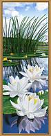 Рисунок на ткани для вышивания бисером Белые лилии