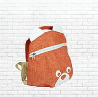 Детский рюкзак мишка, лен