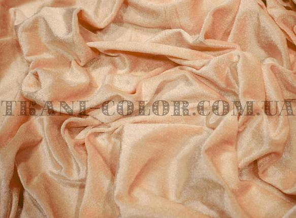 Велюр стрейчевый персиковый, фото 2
