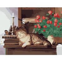 """Рисование по номерам Тварини """" Домашній улюбленець"""" 30х40см"""