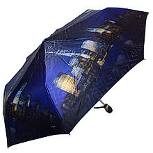 Качественный женский зонт автомат ТРИ СЛОНА RE-E-135O-5, цвет синий. Антиветер!