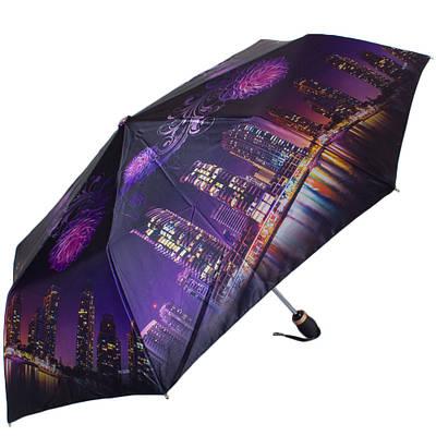 Женский зонт автомат ТРИ СЛОНА RE-E-135O-4, фиолетовый
