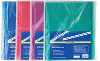 Файлы А4 40мк 100шт цветные BUROMAX, фото 1