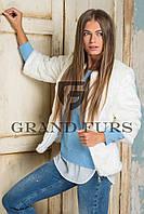 Женский полушубок из эко меха Tissavel(Франция) 134 белый 42-54рр