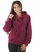 Женская флисовая кофта. Цвет: вишневый, теракотовый.  рр. S-2XL