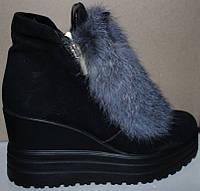 Ботинки зима из натуральной замши на платформе от производителя ЛБ - 004