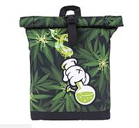 Модный рюкзак с коноплей