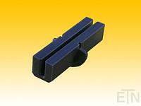 Вкладыш 6 PE, U-образный профиль, вращающийся с хомутом, для рельсов 6 мм, 121 x ø 52 мм, запчасти ThyssenKrupp