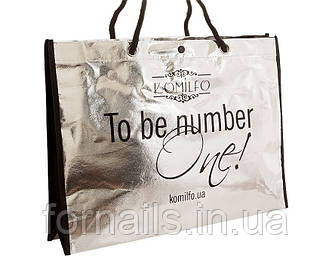 Сумка Komilfo серебристая 30*40 см