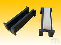 Вкладыш 9 PE, U-образный профиль с воротником, для рельса 9 мм, 100 x 40 x 32,5 мм, стальной, запчасти + Cell-VU, Отис