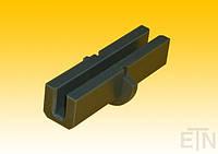 Вкладыш 9 PE, U-образный профиль, поворотный с хомутом, для рельса 9 мм, 121 x ø 52 мм, запчасти ThyssenKrupp