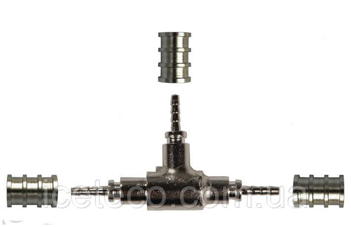 Фитинг 141 Cold-flex тройник Т-типа к гибкой капиллярной трубке
