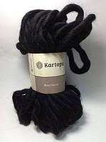 Пряжа Kartopu Wool Dekor черный №940 для ручного вязания