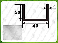 40*20*2. Алюминиевый швеллер. Без покрытия. Длина 3,0м 6,0м.