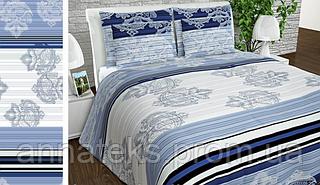 Ткань постельная 142141 Бязь (ПАК) НАБ.ГОЛД NR 1124 ГОЛУБОЙ 220СМ