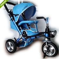 Велосипед-коляска с поворотным сиденьем, надувные колеса M AL3645A-12, голубой ***