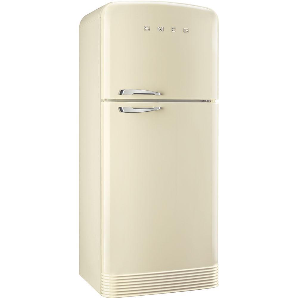 Отдельно стоящий двухдверный холодильник, стиль 50-х годов Smeg FAB50RCR кремовый