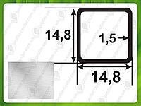 14,8*14,8*1,5. Алюминиевая труба квадратная. Без покрытия. Длина 3,0м и 6,0м