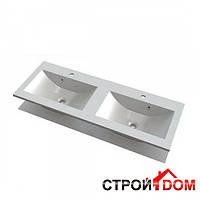 Двойная мебельная раковина Marmite Yrsa 1200x450 12129124203 белый