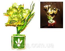 Светильник-ночник Живой цветок салатовый