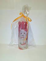 Новогодняя декоративная свеча ручной работы, Собака Новый год