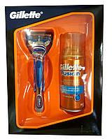 Набор Gillette Fusion Бритва со сменной кассетой 1шт + Гель для бритья Hydra Gel Hydrating увлажняющий 75 мл