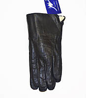 Кожаные мужские перчатки на меху оптом