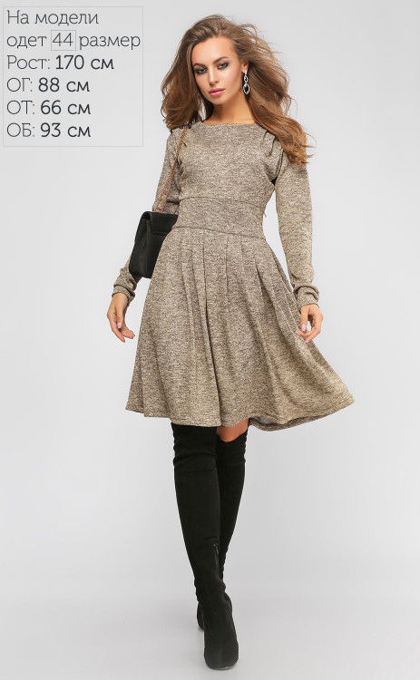 3d3d7dcacc8 Трикотажное платье с люрексом Луиза - Styleopt.com в Харькове