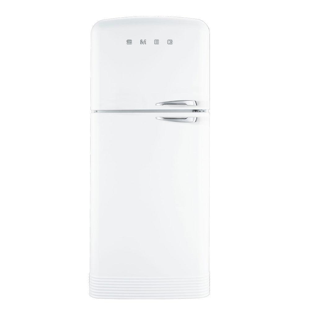 Отдельностоящий двухдверный холодильник, стиль 50-х годов Smeg FAB50LWH белый