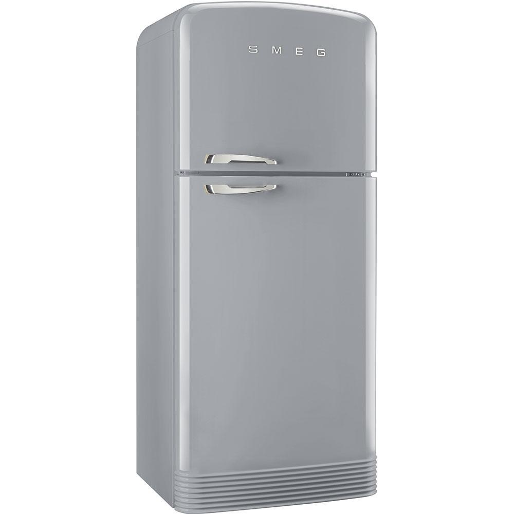 Отдельностоящий двухдверный холодильник, стиль 50-х годов Smeg FAB50RSV серебро