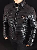 Куртка мужская Philipp Plein D2310 черная зимняя