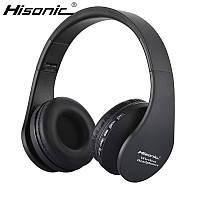Наушники беспроводные Hisonic SUN 811 MicroSD с микрофоном (черные)