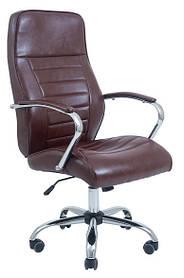 Кресло Ямайка Хром, Кожзам Коричневый (Richman ТМ)