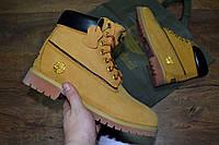 Зимние мужские ботинки Timberland светло-коричневые с мехом 0174