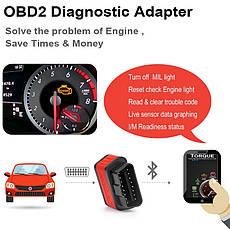 Діагностичний автосканер Ancel OBD2 ELM327 v1.5 Bluetooth для Android помаранчевий, фото 2