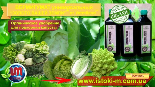 вермигумат органическое удобрение для подкормки цветной капусты