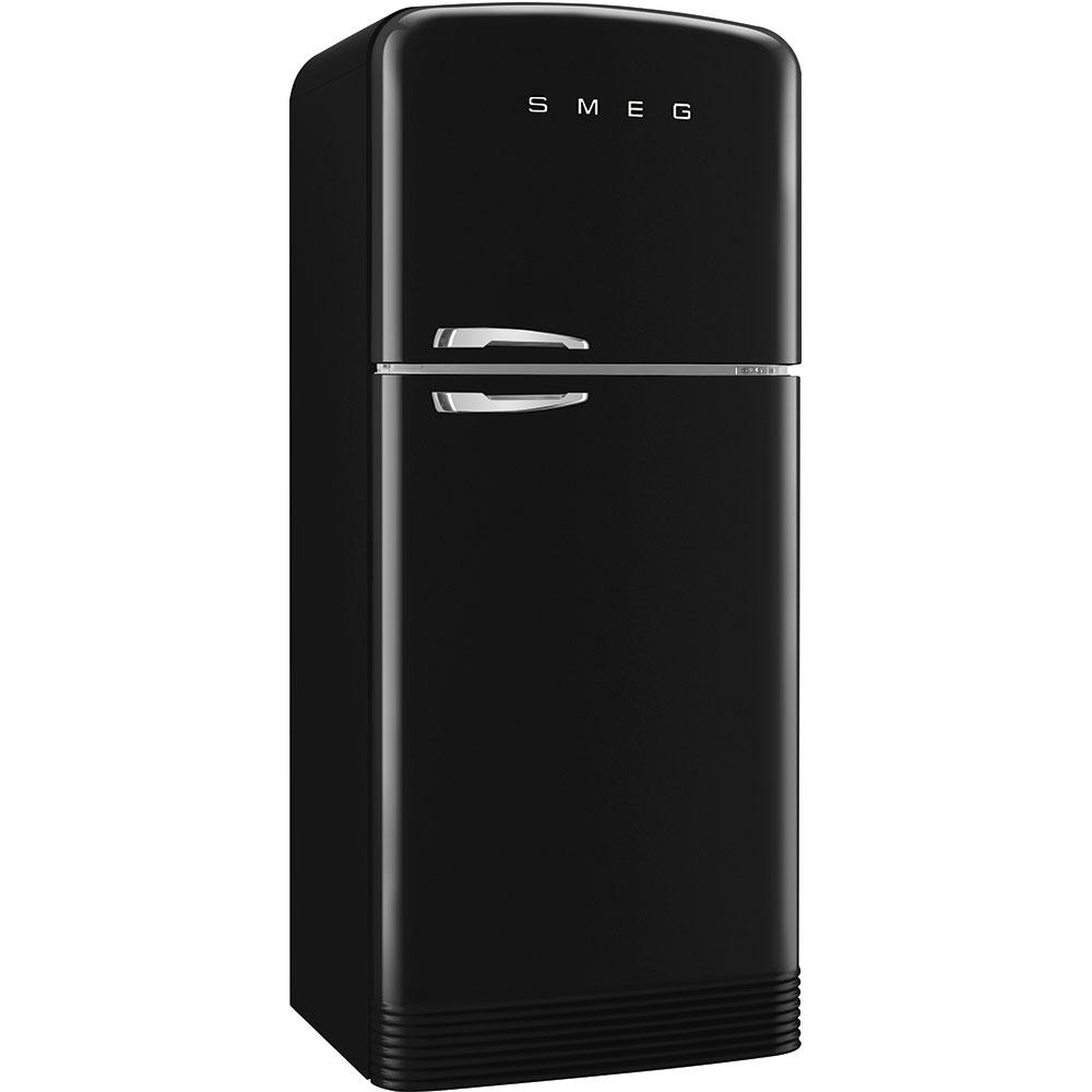 Отдельностоящий двухдверный холодильник, стиль 50-х годов Smeg FAB50RBL черный
