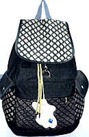 Текстильные рюкзаки оптом ДЖИНС 27*39 (черный)
