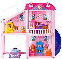 Кукольный игрушечный домик с машиной