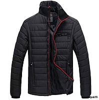 Молодежная мужская теплая куртка RLX. Воротник-стойка, скрытый капюшон. Хорошее качество. Дешево. Код: КГ2224