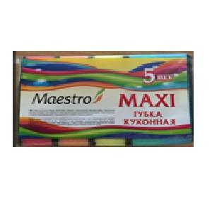 Губка кухонная ТМ Maestro  5 шт  Maxi